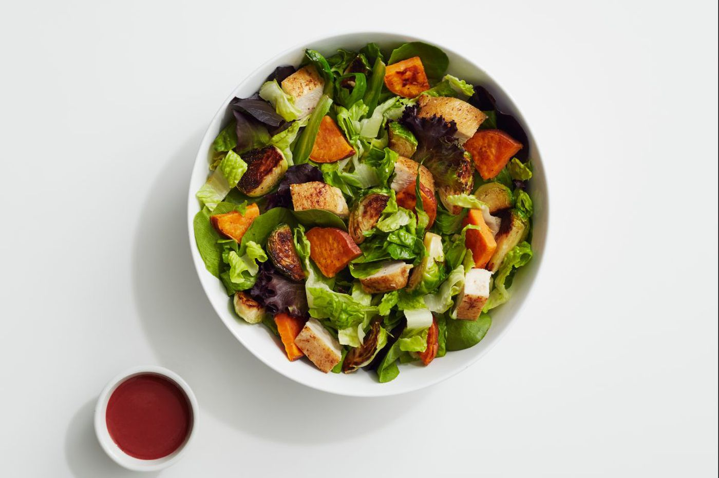 A New Year's salad with Brussels sprouts and sweet potatoes