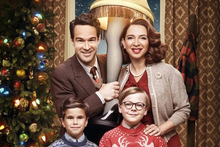 """Clockwise from top, Chris Diamantopoulos, Maya Rudolph, Andy Walken and Tyler Wladis  will star in Fox's live musical event, """"A Christmas Story Live!"""" at 7 p.m. Dec. 17"""