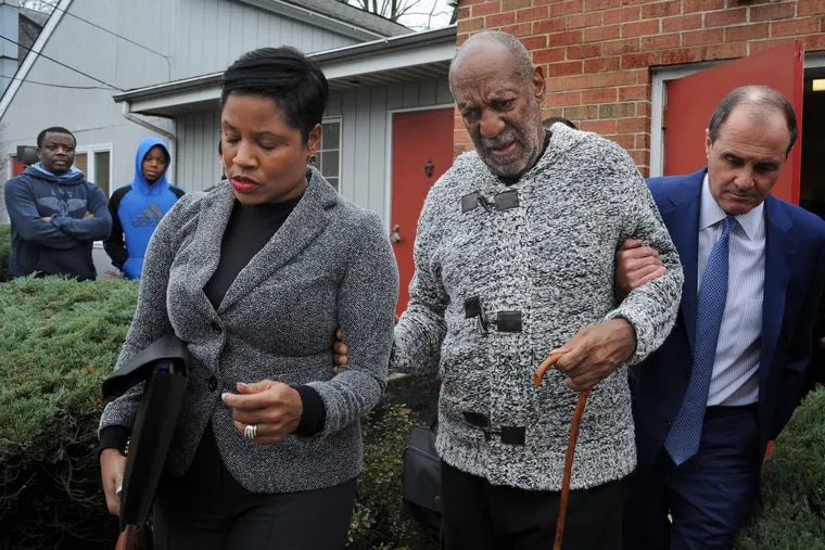 Bill Cosby leaves his arraignment.