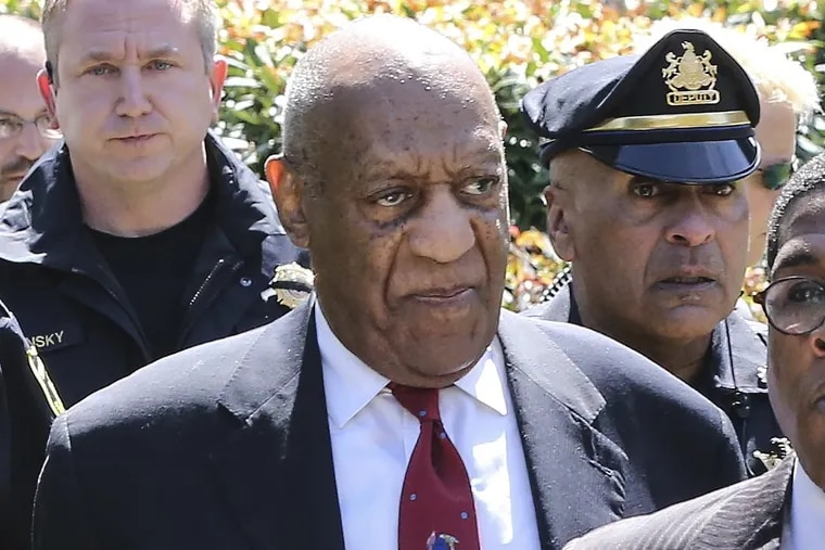 Bill Cosby leaves the Montgomery County Courthouse after being found guilty on all three counts of aggravated indecent asault.