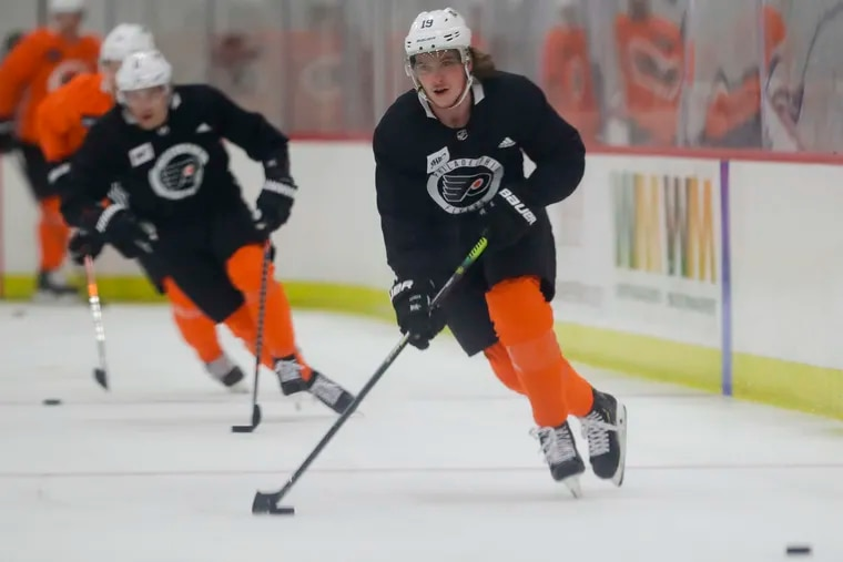 Flyers center Nolan Patrick has looked strong in training camp as he returns from a migraine disorder that sidelined him for all of last season.
