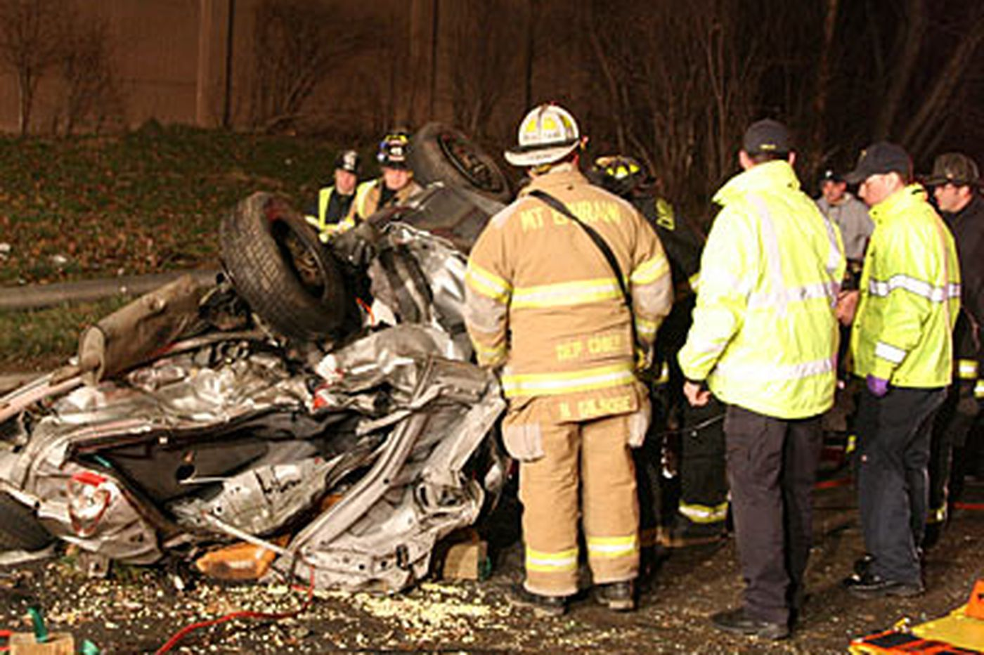 PCP, cocaine, .357, found after fiery S.J. crash