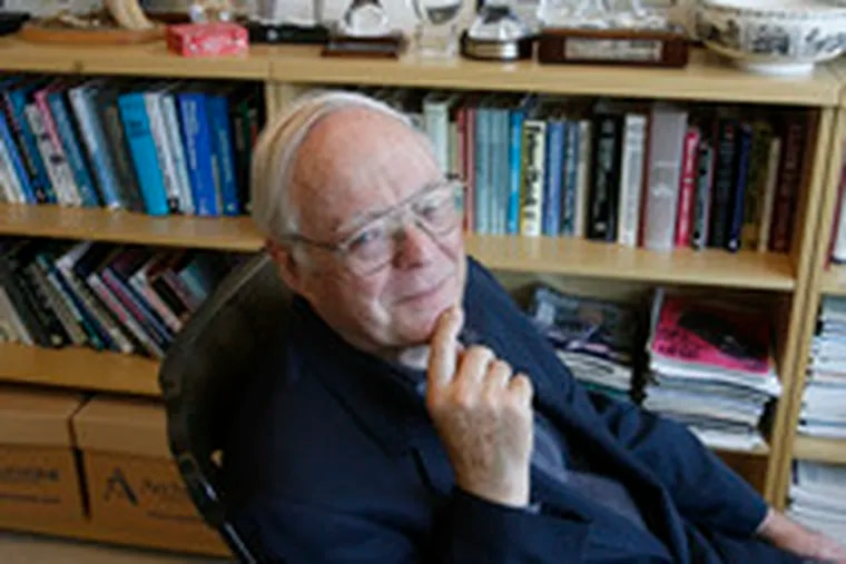 John B. Neff, at 77, sat in his office in a rocking chair surrounded by memorabilia from his years as founder of Vanguard's Windsor Fund.