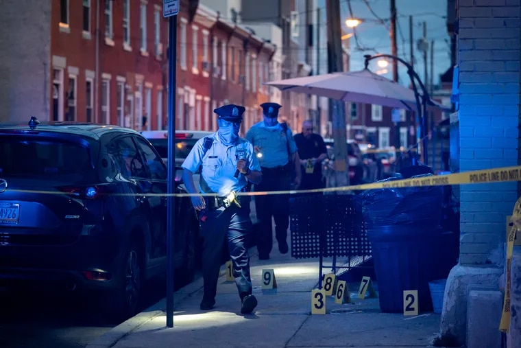 Police investigate a double shooting on the 1500 block of South Cleveland St., Friday, September 3rd.