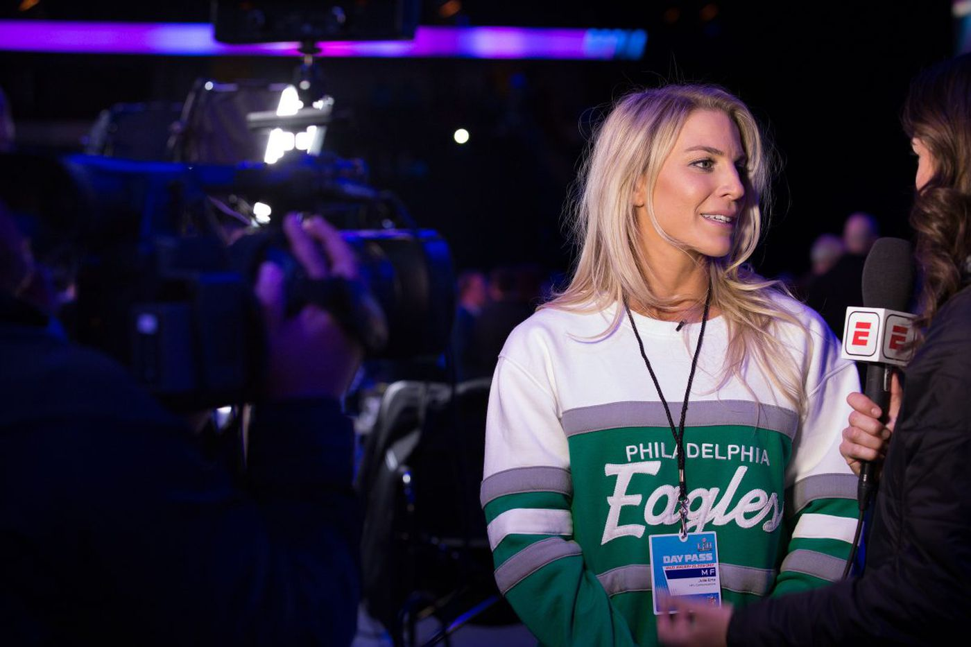 Even at her husband's big night, soccer star Julie Ertz plays a leading role