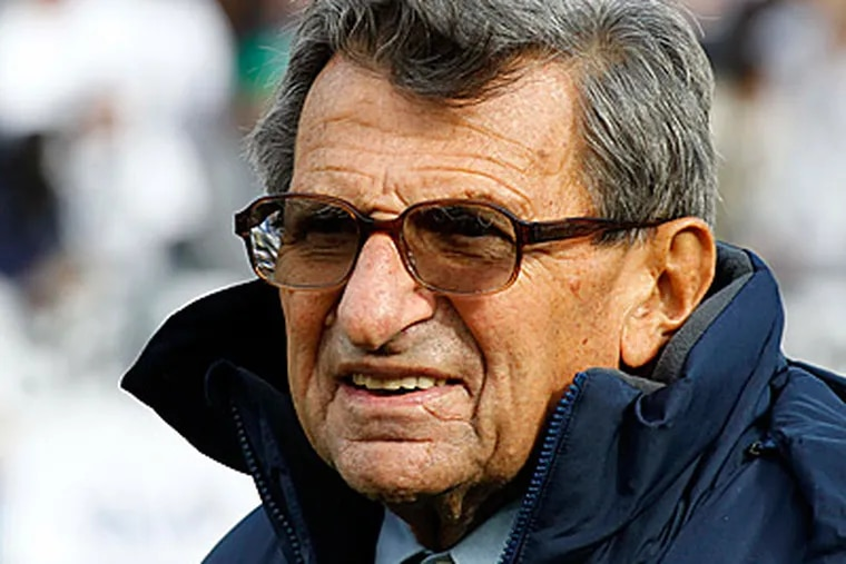 Joe Paterno became the first coach in FBS history to win 400 games. (AP Photo/Gene J. Puskar)