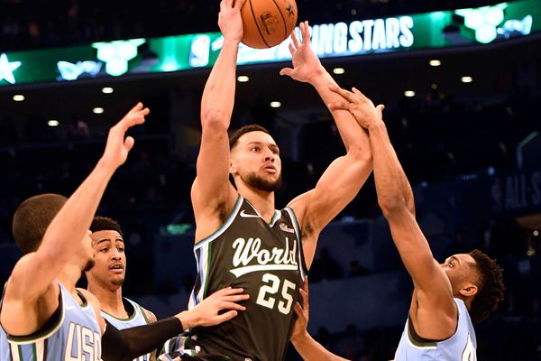 Ben Simmons has 28 points, 6 assists representing Sixers in Rising Stars Challenge, turns his focus to Sunday's NBA All-Star Game