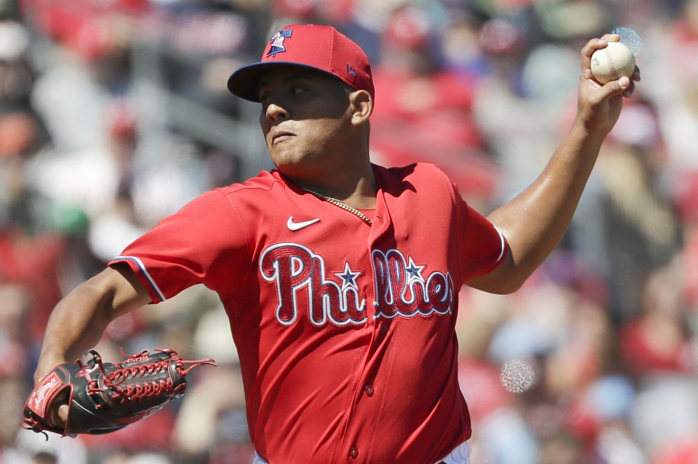 Cleared from COVID-19, Ranger Suarez joins Phillies bullpen after month in a hotel room