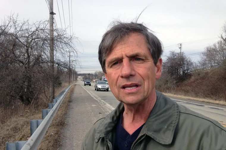 """Joe Sestak says he is walking not for party leaders in Washington but Pennsylvania voters. """"I want them to know they can trust me to be held accountable,"""" he says. """"It isn't just a walk, it's a walk to begin to earn their trust."""" (Jonathan Tamari/Inquirer Staff)"""