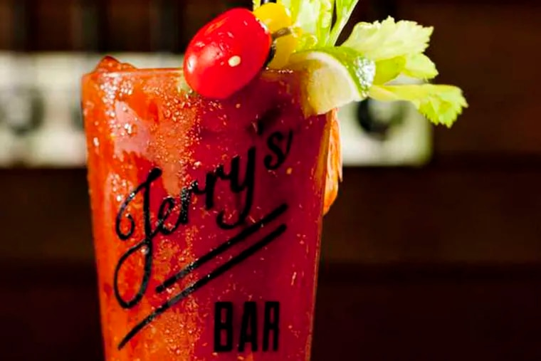 Bloody Jerry as served at Jerry's Bar (129 W. Laurel St.) in Northern Liberties.