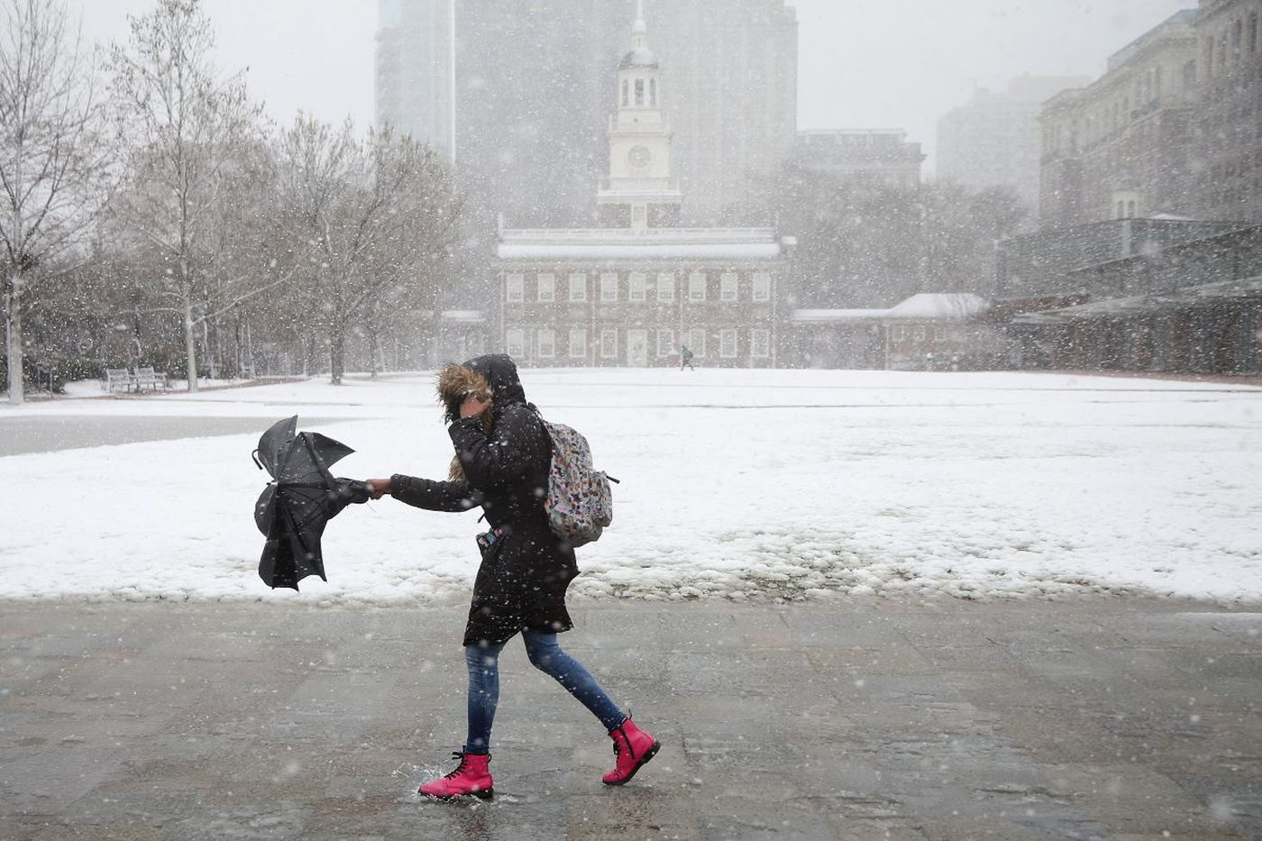Spring snow a rarity in Philly, but it has been worse, much worse