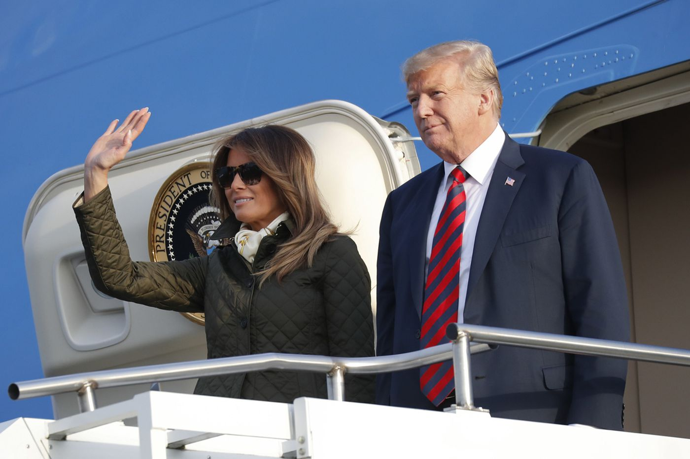 Melania Trump's rep fires back after report the president 'raged' over TV airing CNN