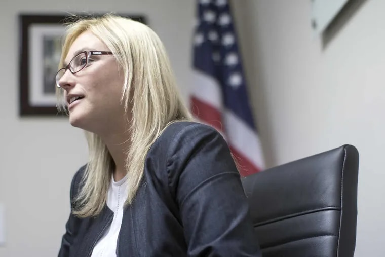 State Rep. Martina White, 28, at her Northeast Philadelphia office. Since winning her seat in 2015 as the first Republican to win an open House seat in the city in 25 years, despite having no political experience, she has made a name for herself on two contentious issues, immigration and police transparency.