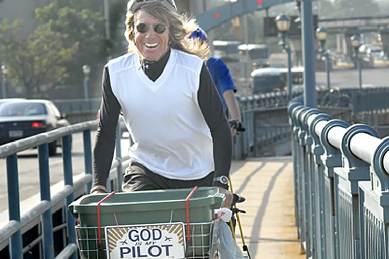 Bill Gugel, a project designer from Gloucester City, has been biking to Center City for 20 years.