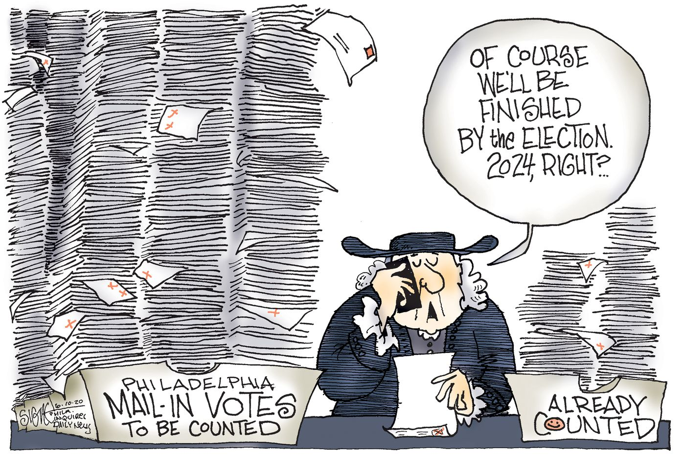 Political Cartoon: Mail-in ballots are great! So easy to screw up!