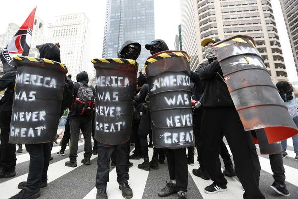 Antifa, black-clad and often violent, is strong in Philly