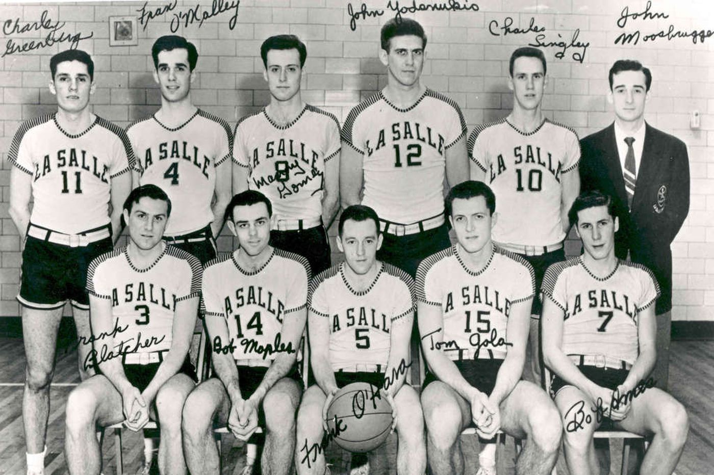Frank S. Blatcher, a player on La Salle's 1954 NCAA basketball ...