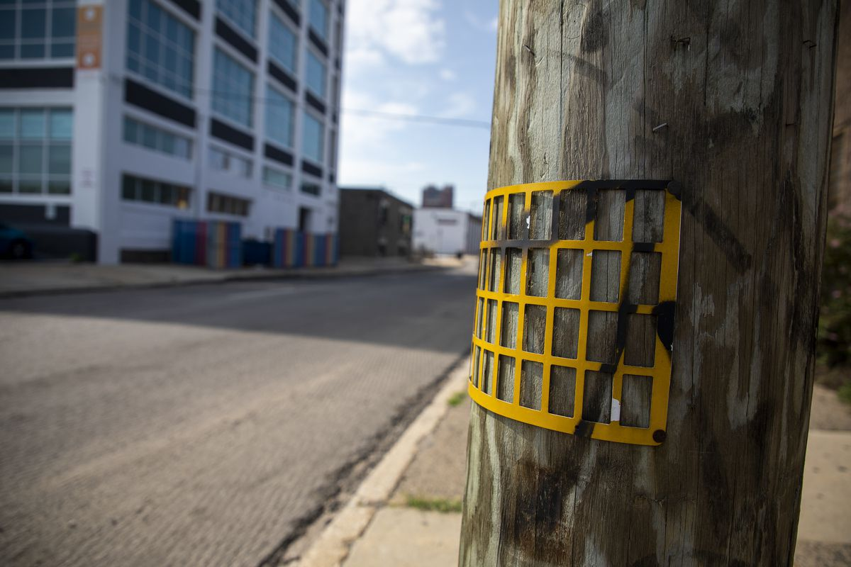 Why yellow grids are on some Philly-area utility poles
