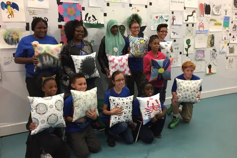Local nonprofit Fresh Artists has teamed up with Crate & Barrel to create a line of children's bedding, all designed by students from Philadelphia, Camden, and Norristown schools struggling with massive finance cuts.