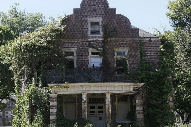 A 2010 photo shows the condition of the buildings and grounds on the site of Pennhurst State Hospital, which has been closed since 1987. (Associated Press)
