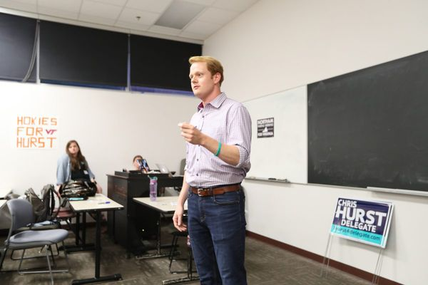 His girlfriend was shot and killed on TV. Now Chris Hurst is running for office