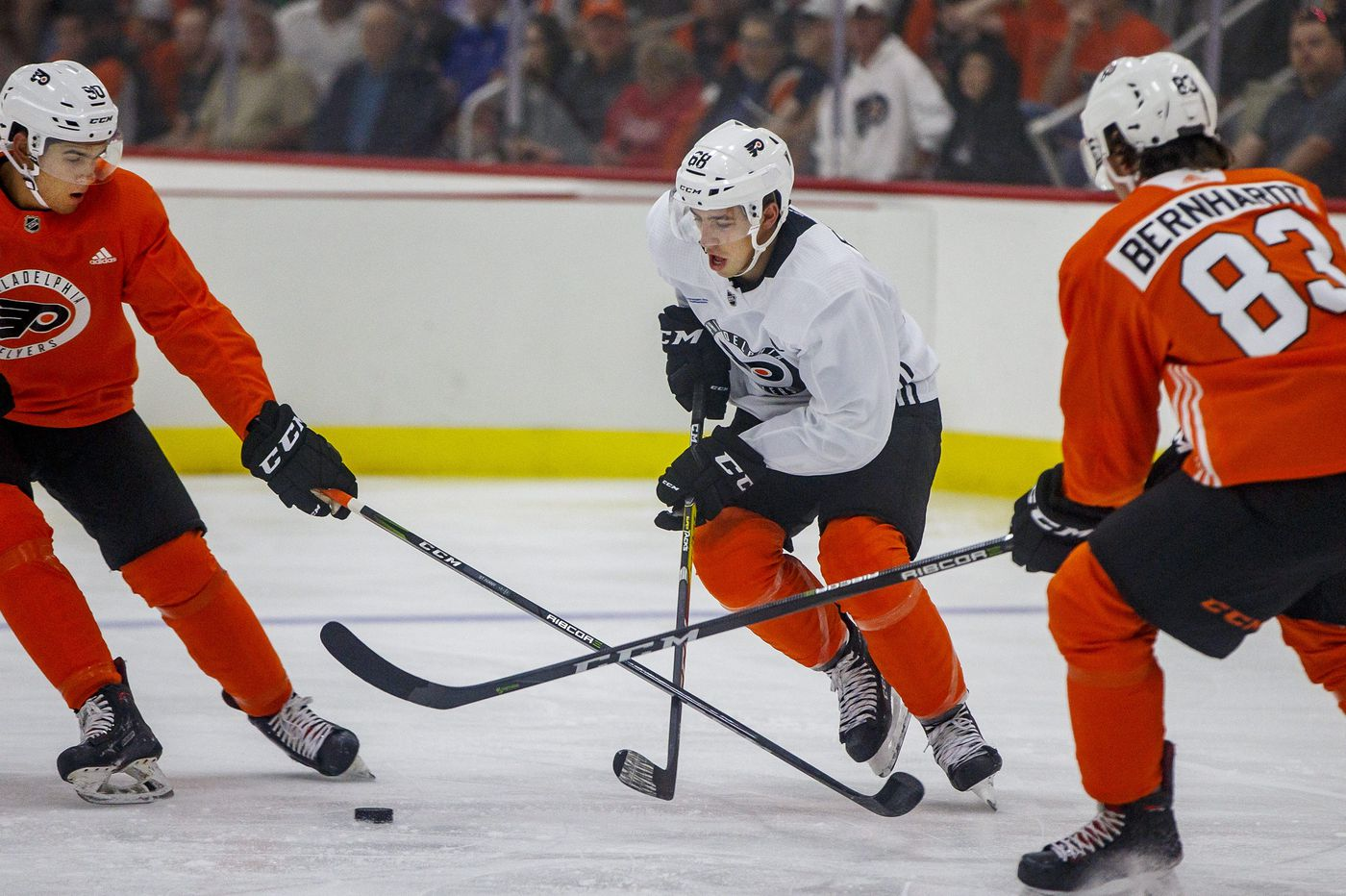 Morgan Frost, impressive in development camp, is aiming for spot with Flyers this season