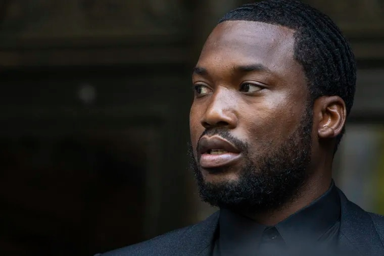 Meek Mill exits the courthouse at 530 Walnut St. in Philadelphia on Tuesday, July 16, 2019, after he and his lawyers argued that he should be given a new trial and a new judge to hear his case.