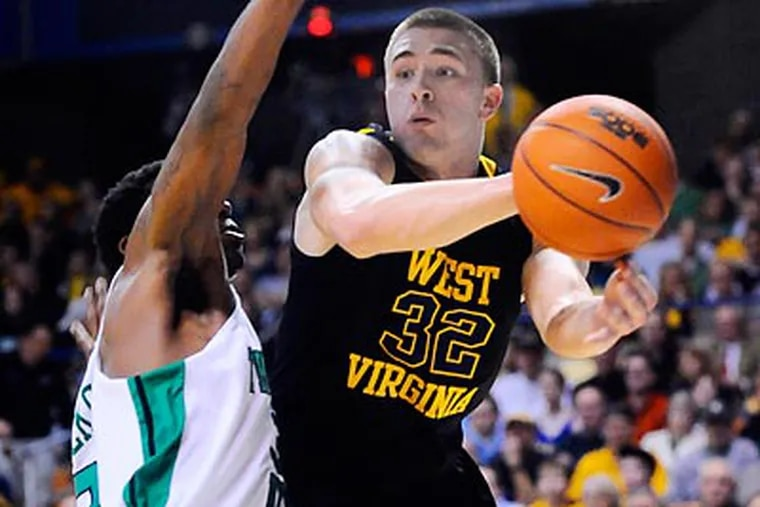 Dalton Pepper will have two years of eligibility left at his new school after he transfers from West Virginia. (Jeff Gentner/AP file photo)