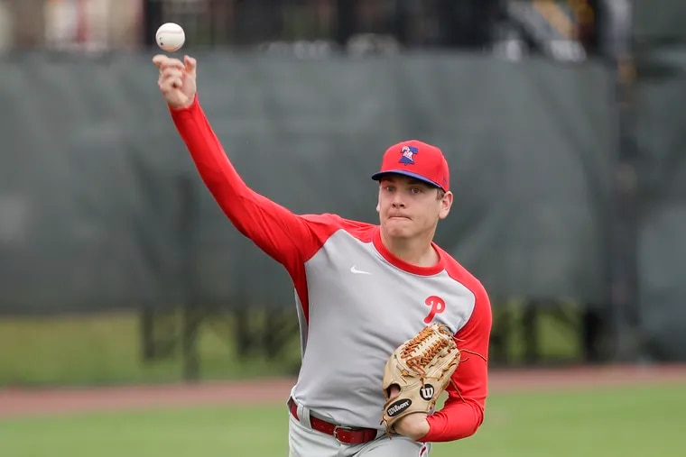 Phillies top pitching prospect Spencer Howard has been working out at the team's alternate training site in Allentown.