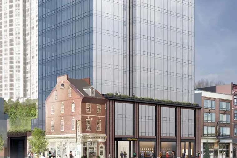 The final design for Toll's 24-story, glass tower on Jeweler's Row has become more generic and lifeless.