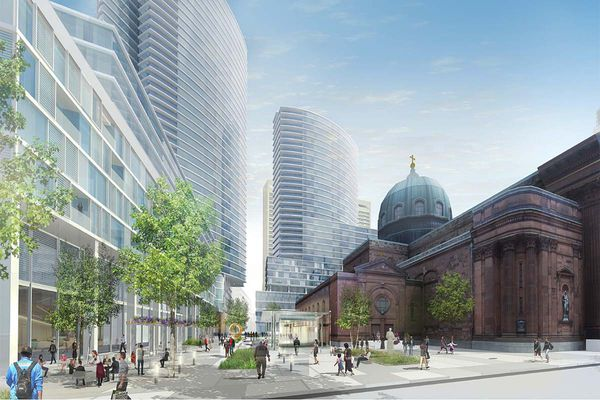 Cash-strapped archdiocese sees high-rise towers for cathedral campus