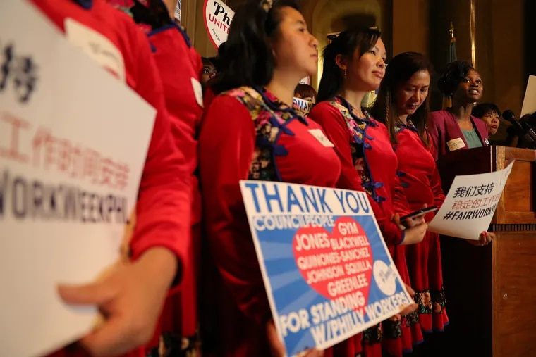 """Activists promote """"fair workweek"""" legislation, one of several worker-friendly bills passed in recent years by City Council over the objections of business interests."""