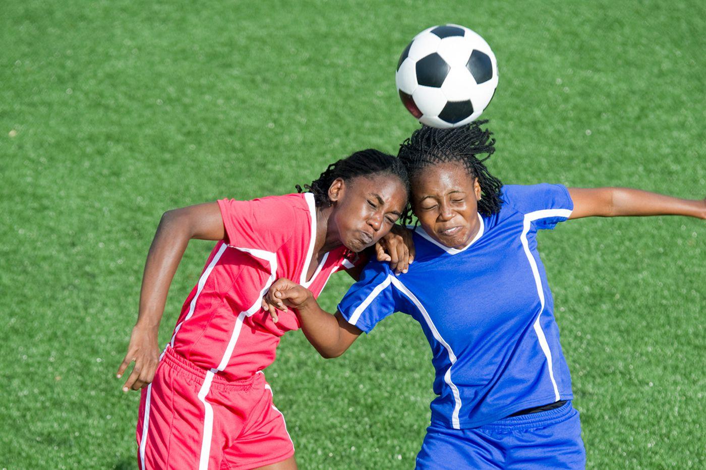 Should kids avoid heading a soccer ball — especially girls?