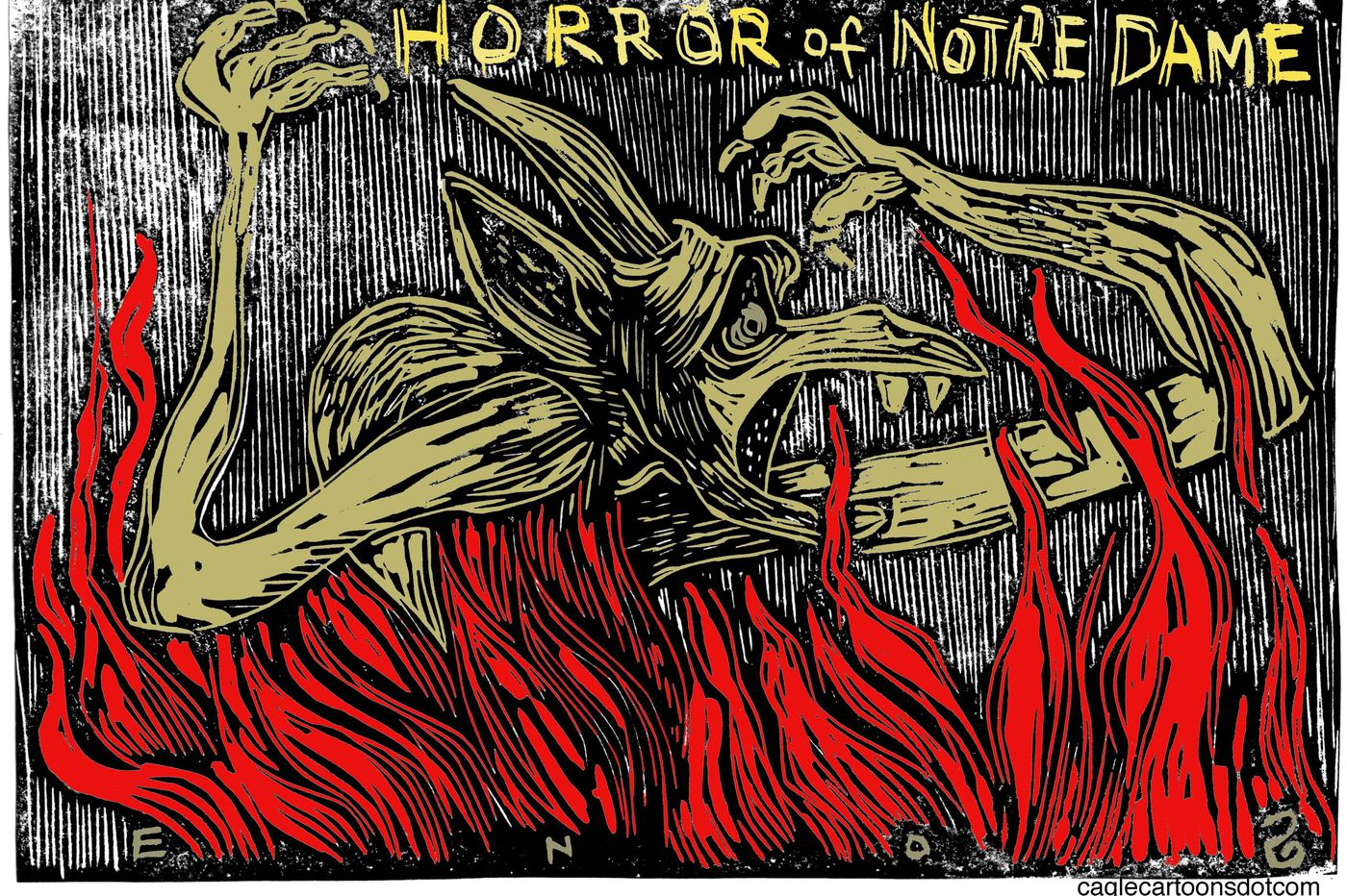 Notre Dame fire: Grieving for the beloved cathedral through the eyes of editorial cartoonists