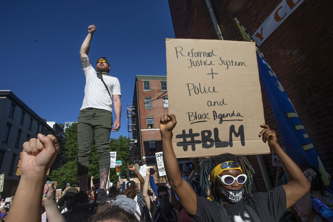 Peaceful protests continue in Philly as demonstrators demand an end to police funding