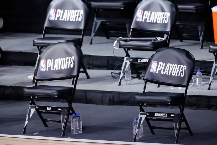 The Milwaukee Bucks' bench sat empty at what was supposed to be tip time of Game 5 of their playoff series against the Orlando Magic.