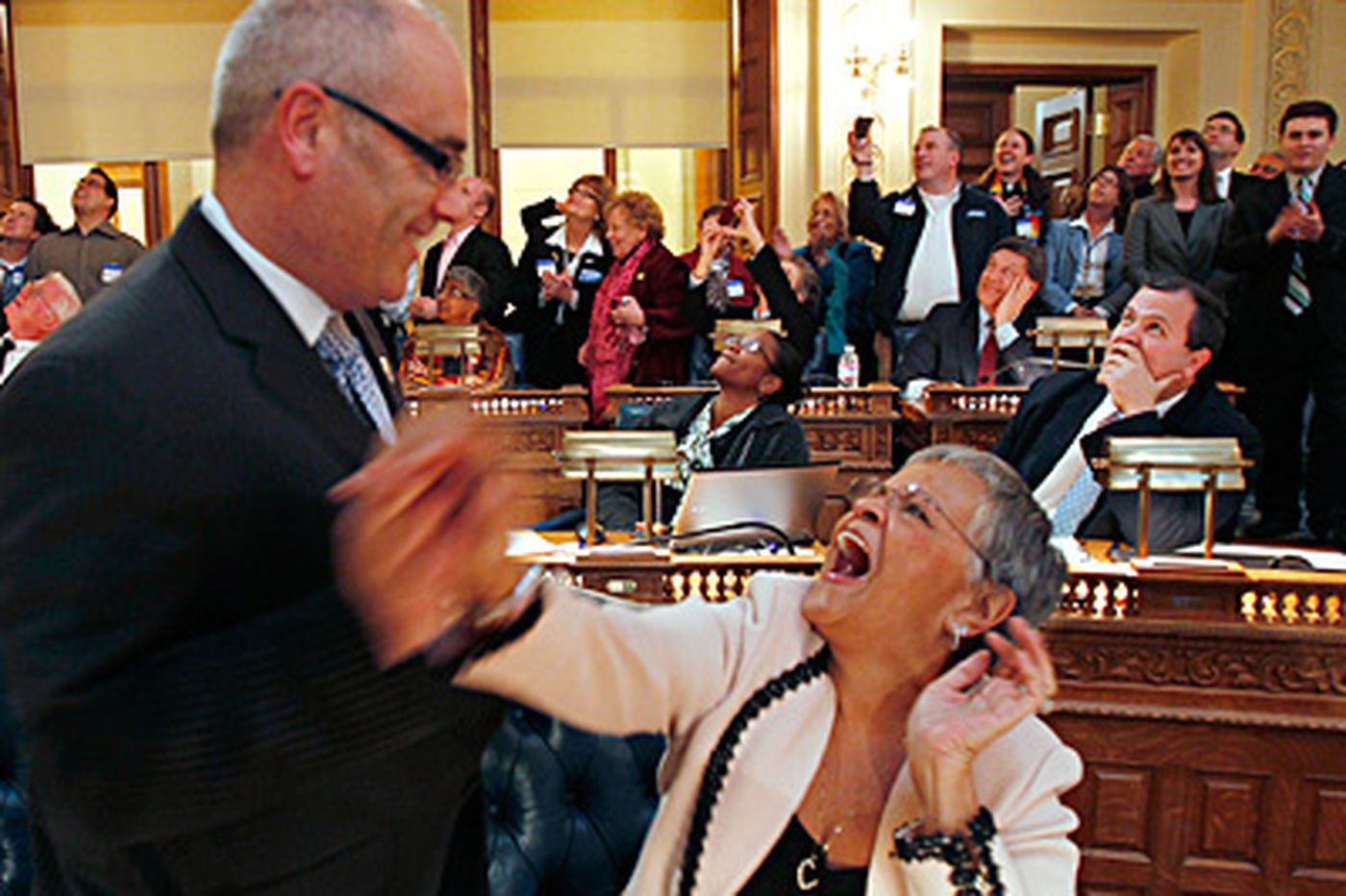 N.J. Assembly approves gay marriage; Christie vows veto