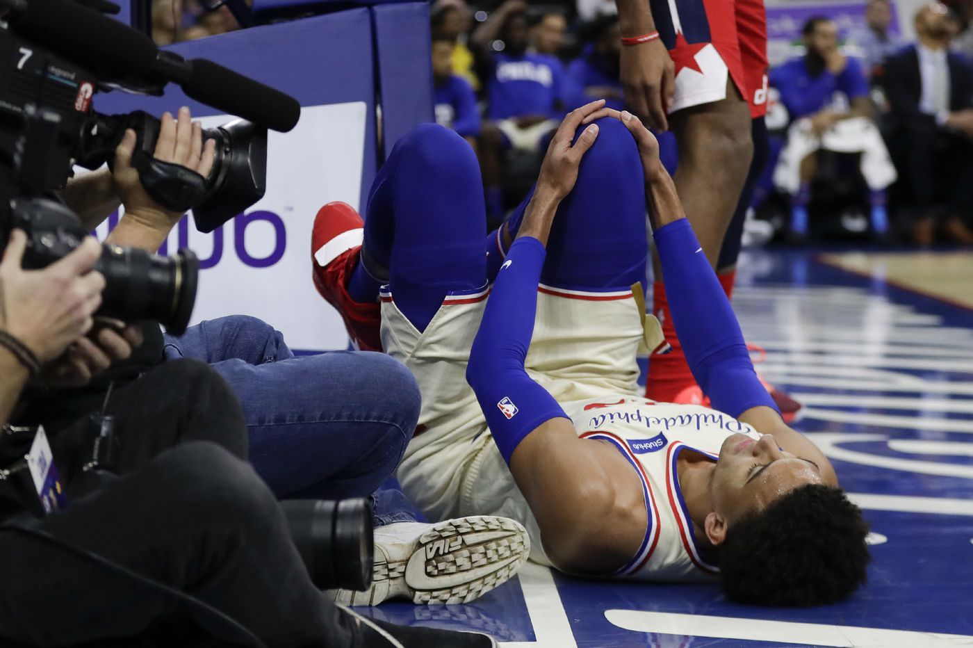 Sixers Matisse Thybulle out indefinitely with a bone bruise and sprain of his right knee