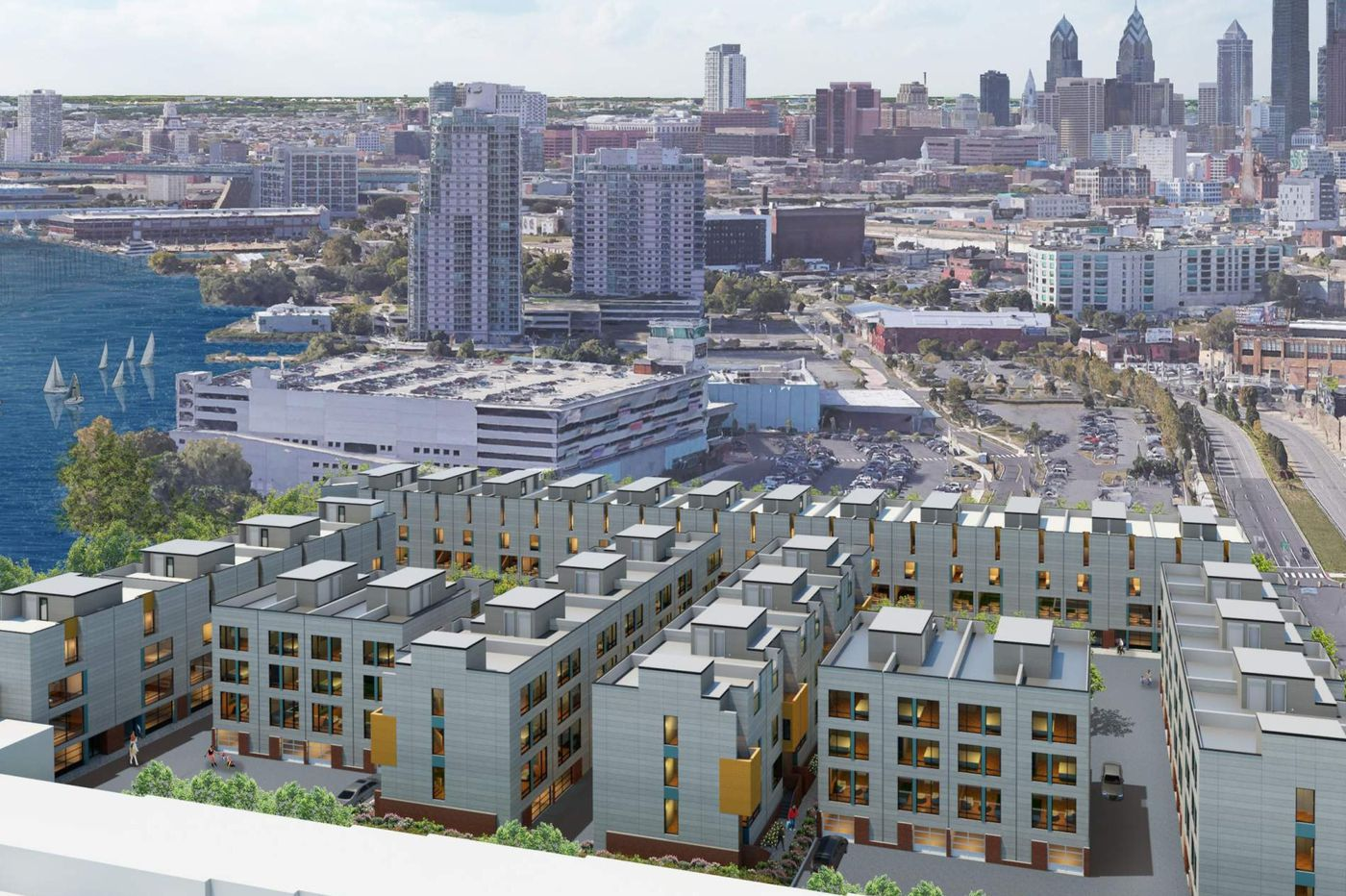 Rowhouse complex planned for waterfront land beside SugarHouse Casino