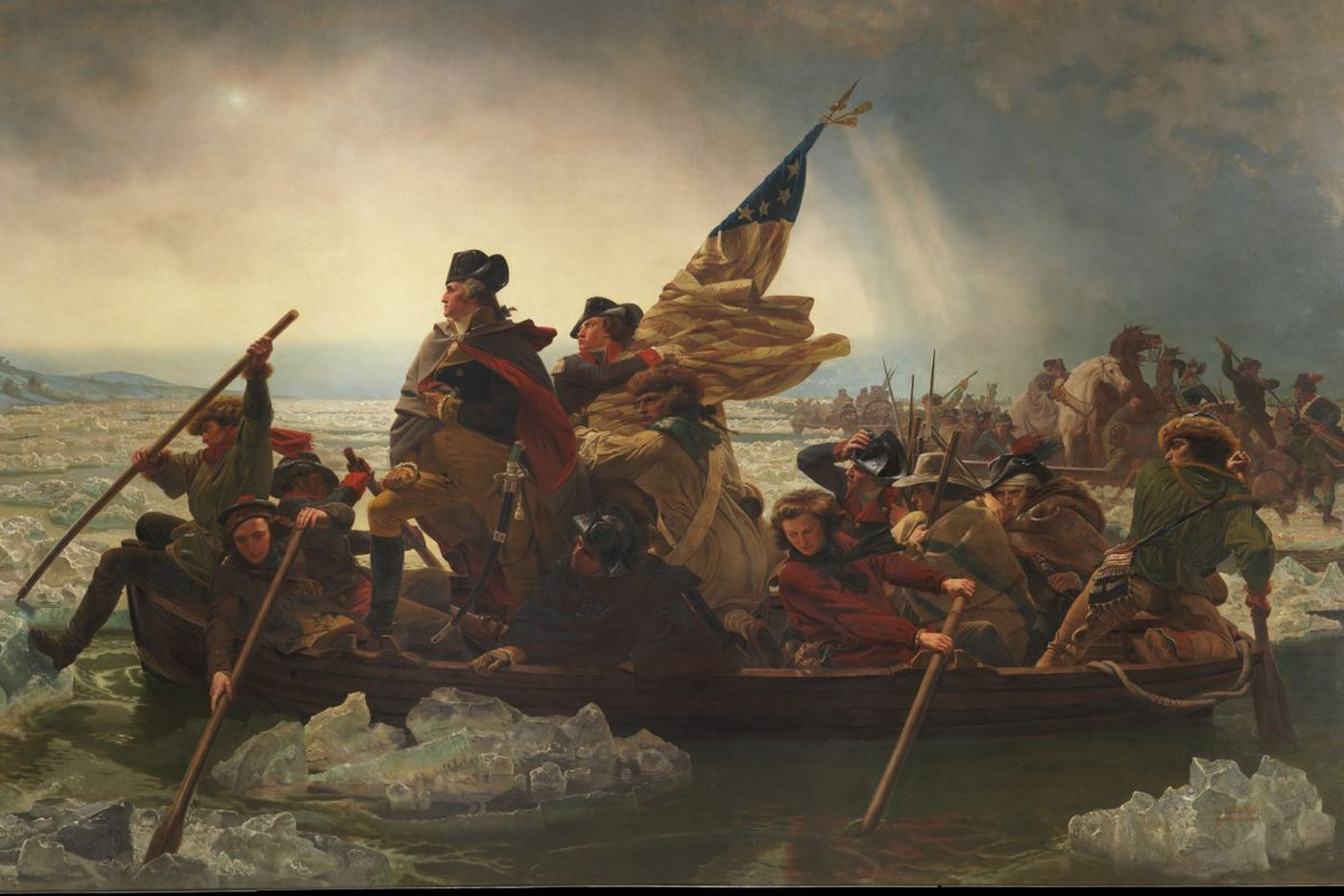 How a painting of George Washington crossing the Delaware on Christmas went 19th-century viral
