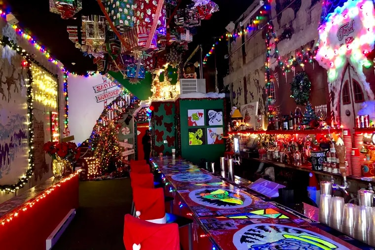 The interior of Tinsel, 116 S. 12th St., is a tribute to Christmas decor.