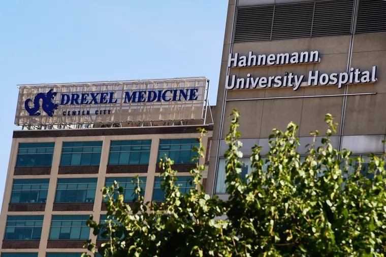 The now-closed Hahnemann University Hospital, and Drexel University College of Medicine.