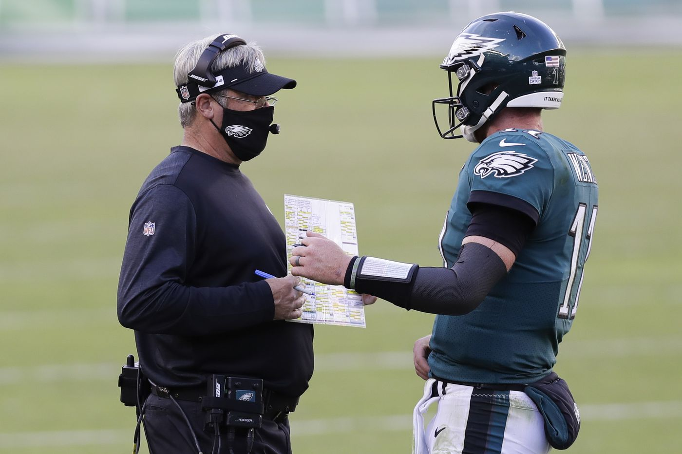 Doug Pederson says Eagles' botched two-point play was his call in loss to Ravens
