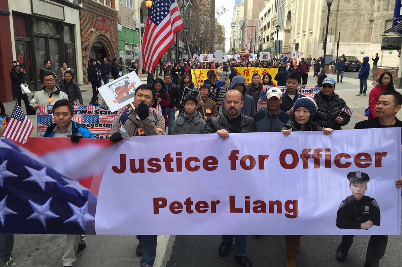 Thousands in Phila. protest conviction of NYPD officer