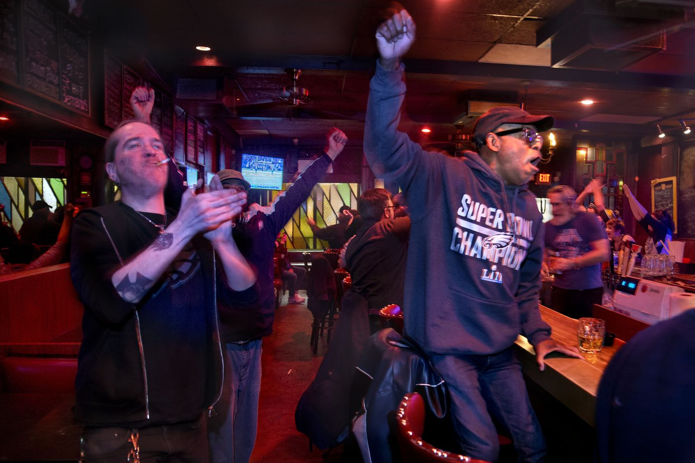 Subdued atmosphere at McGlinchey's Bar as Eagles pull off a squeaker