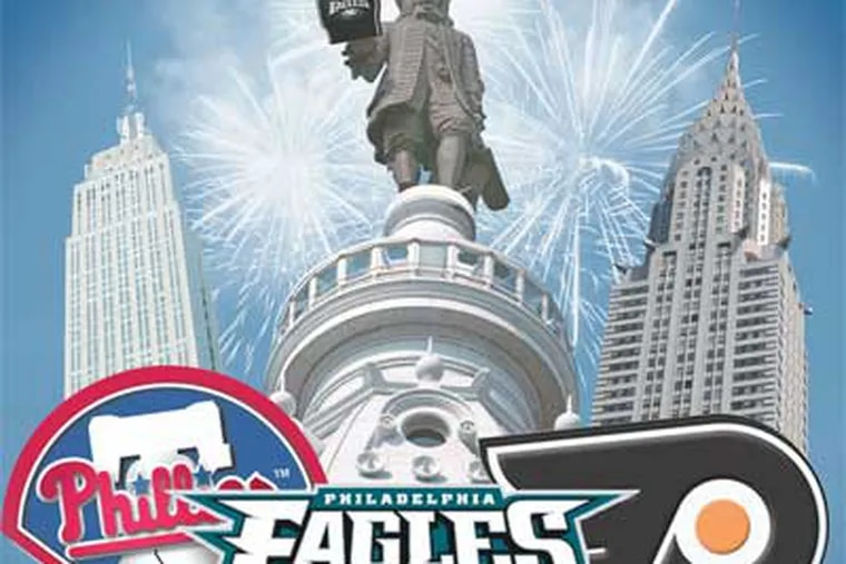 Cliff Lee and Michael Vick have helped Philadelphia teams achieve big victories against New York rivals. (Daily News illustration)