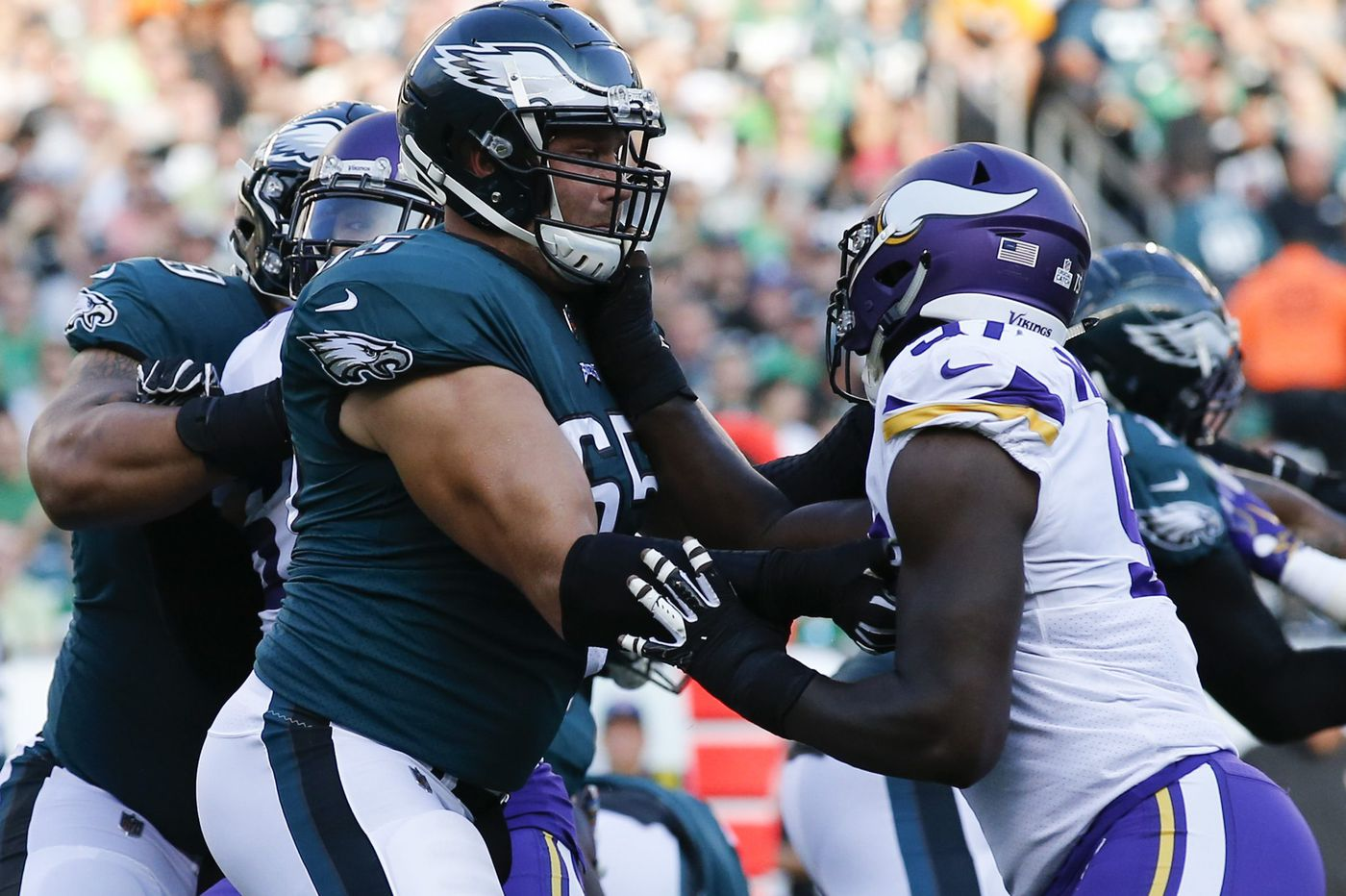 Another Eagles injury drama: Lane Johnson 'questionable' vs. Giants with high ankle sprain