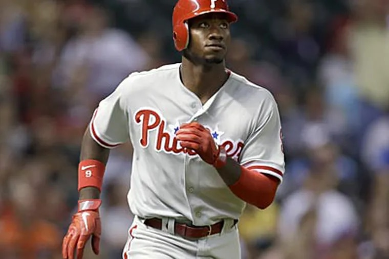 Domonic Brown's trade value isn't as high as it was two years ago, but teams are probably still interested. (Kathy Willens/AP file photo)