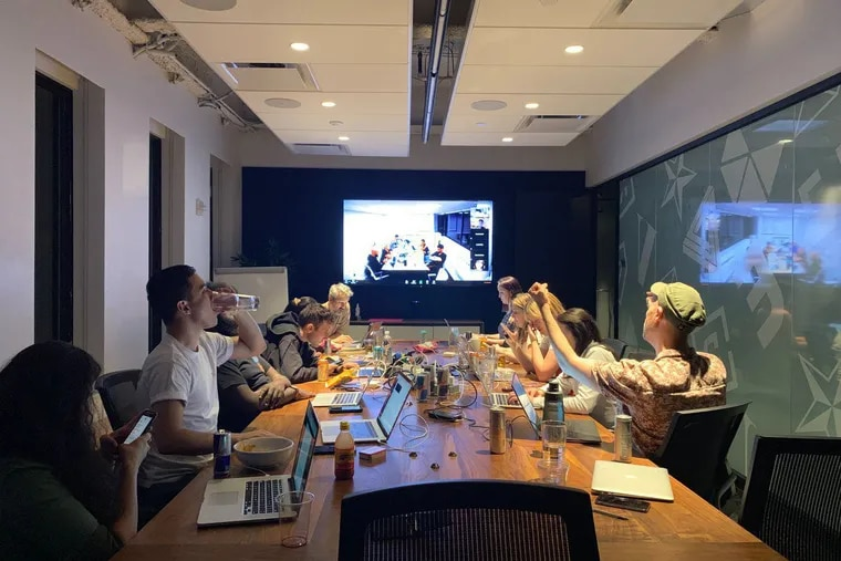 Vox Union sits at the bargaining table after a 15-hour bargaining session on Friday, May 31. The union is coming up on its last day of scheduled bargaining and has taken to social media to put on the pressure.