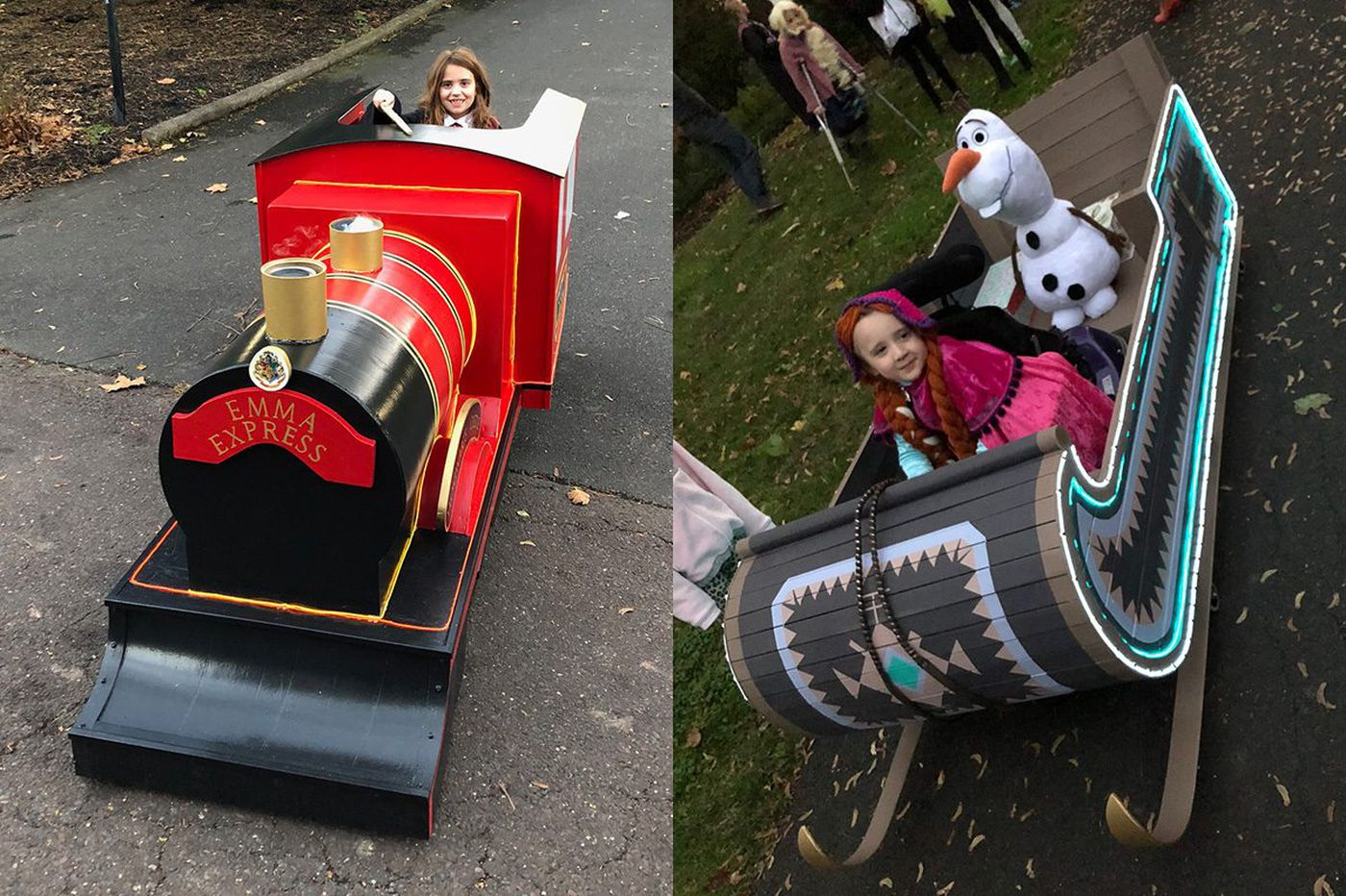 Wheelchair-using Montco sisters get Halloween dream machines